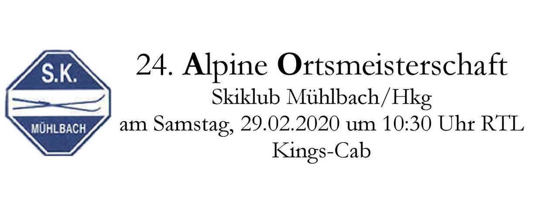 Ortsmeisterschaft Mühlbach/Hkg